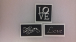 1 - 100  x Love word stencils (3 designs)  to etch  gift present Valentines